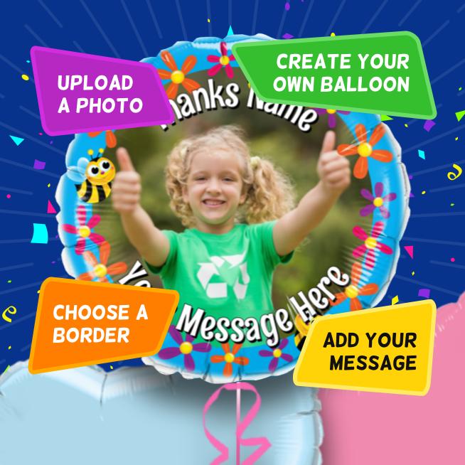 An example of a Thank You photo balloon