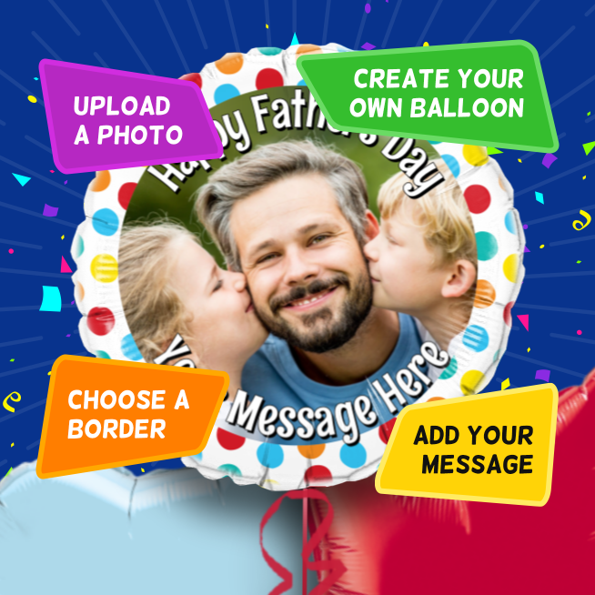 An example of a Father's Day photo balloon