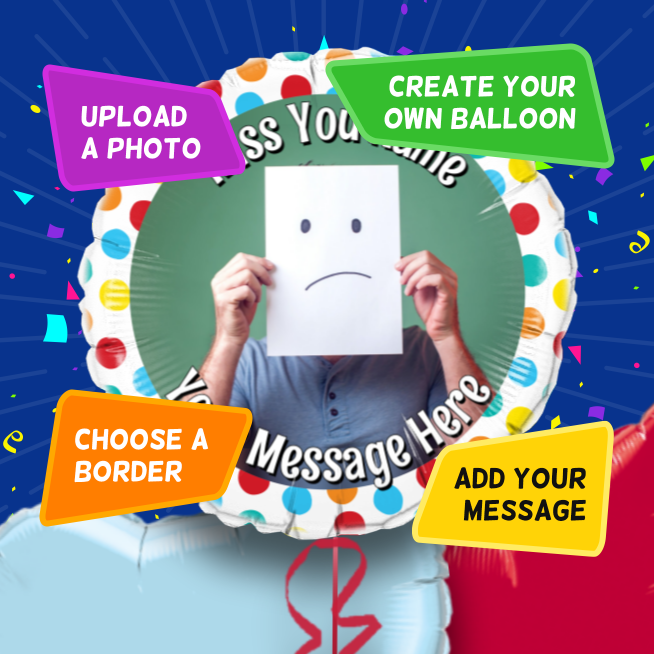 An example of a Missing You photo balloon