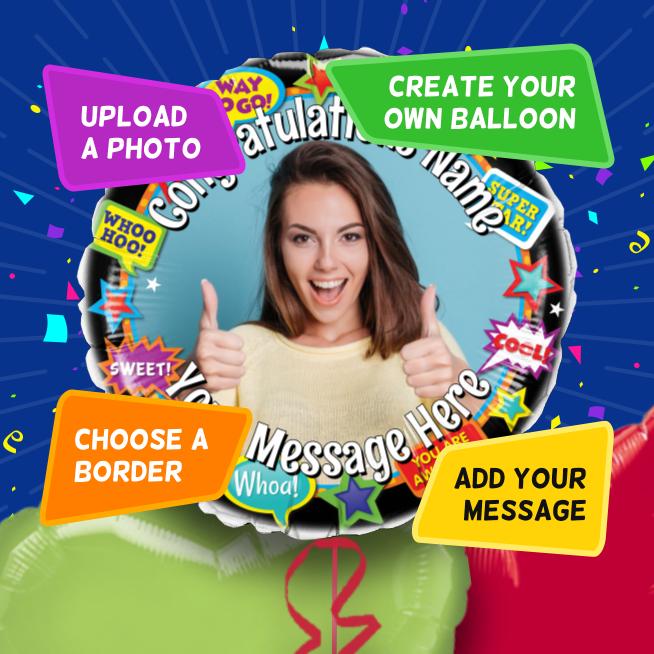 An example of a Congratulations photo balloon